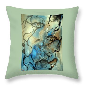 Inward Vision Throw Pillow by Raymond Doward
