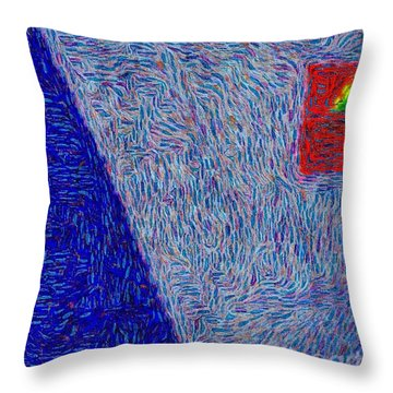 Inward Throw Pillow by William Wyckoff