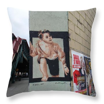 Inwood Graffiti  Throw Pillow by Cole Thompson