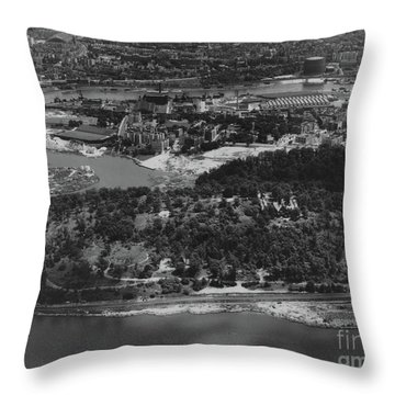 Inwood Hill Park Aerial, 1935 Throw Pillow by Cole Thompson