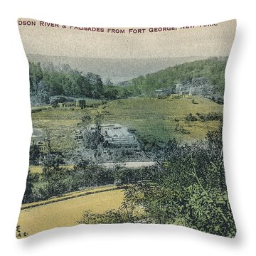 Inwood Postcard Throw Pillow by Cole Thompson