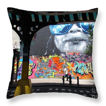 Throw Pillow featuring the photograph Inwood Street Art  by Cole Thompson