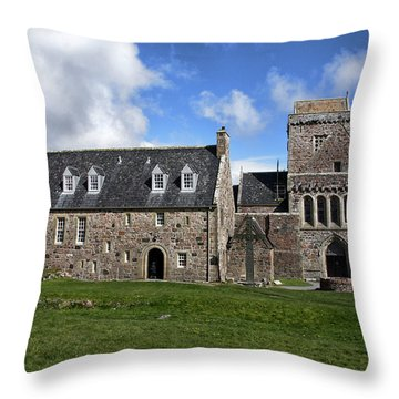 Iona Abbey Scotland Throw Pillow