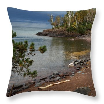 Throw Pillow featuring the photograph Iona's Beach by James Peterson