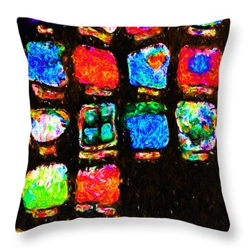 Iphone In Abstract Throw Pillow