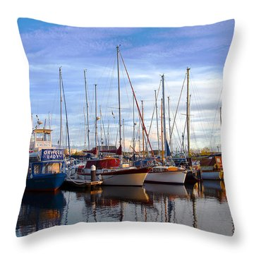 Ipswich Harbour Throw Pillow by Svetlana Sewell