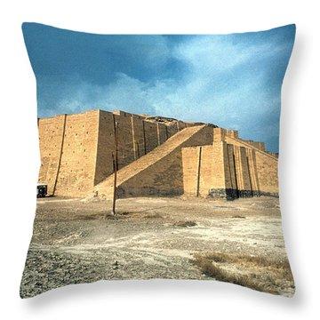 Iraq: Ziggurat In Ur Throw Pillow by Granger