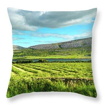 Ireland  - Burren Panorama Throw Pillow