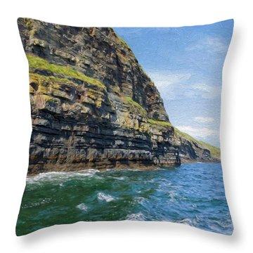 Ireland Cliffs Throw Pillow