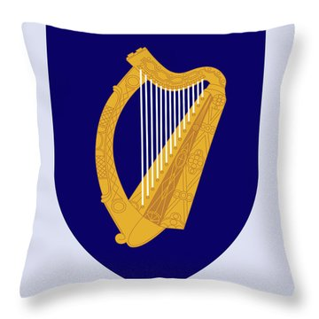 Throw Pillow featuring the drawing Ireland Coat Of Arms by Movie Poster Prints