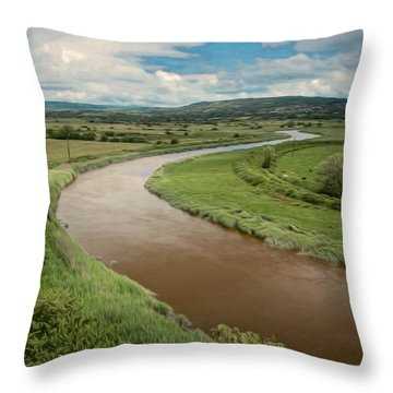 Ireland River Throw Pillow