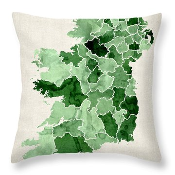 Cartography Throw Pillows