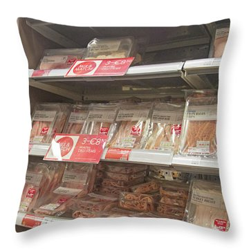 Ireland Yummy Food Shopping Time Throw Pillow