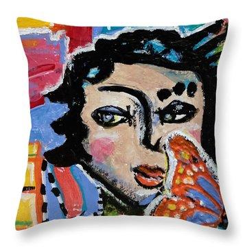Irene - Vivid Vixen 9 Throw Pillow
