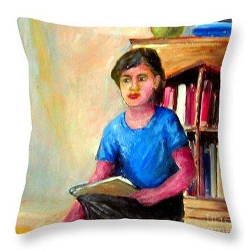 Irene Throw Pillow by Jason Sentuf