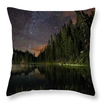 Irene's Misty Back Side Throw Pillow