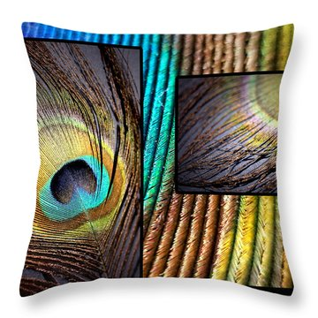 Iridescent Beauty Throw Pillow