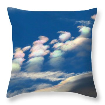 Iridescent Clouds 2 Throw Pillow