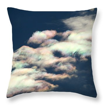 Iridescent Clouds Throw Pillow