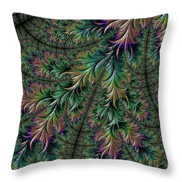 Iridescent Feathers Throw Pillow