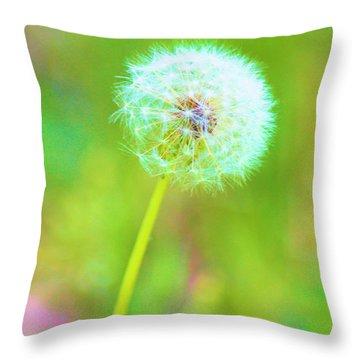 Iridescent Glow Throw Pillow