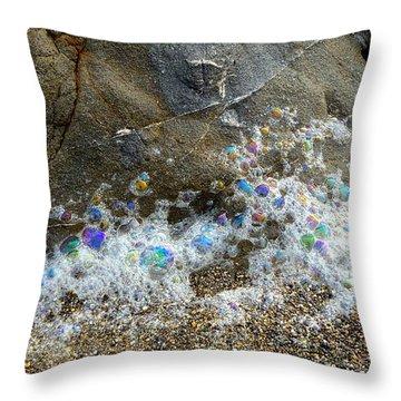 Iridescent Seafoam Necklace Throw Pillow