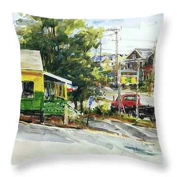 Irie Eats, Provincetown Throw Pillow by Peter Salwen