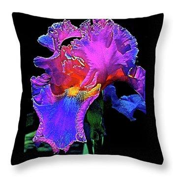 Iris 3 Throw Pillow by Pamela Cooper