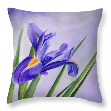 Iris Throw Pillow by Allison Ashton