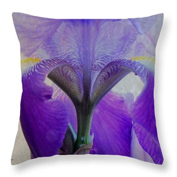 Iris And Ice Throw Pillow