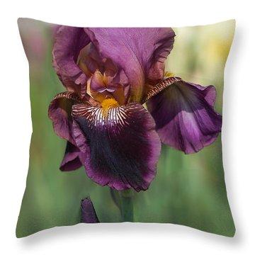 Iris 'black Ruby' Throw Pillow