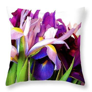Iris Bouquet Throw Pillow