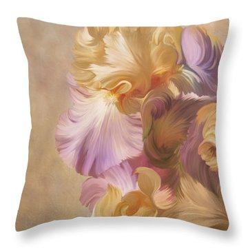 Lovely Iris Throw Pillow