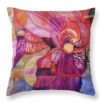 Iris Delight Throw Pillow