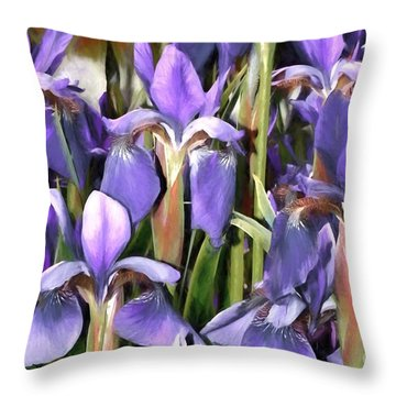 Throw Pillow featuring the photograph Iris Fantasy by Benanne Stiens