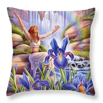 Iris - Fine Tune Throw Pillow
