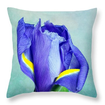 Iris Flower Of Faith And Hope Throw Pillow