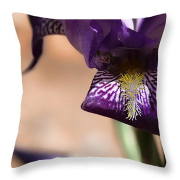 Iris Gemanica Throw Pillow