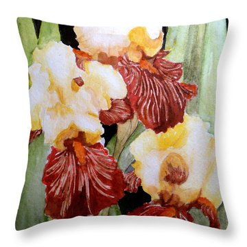 Iris Gems Of Garden Throw Pillow