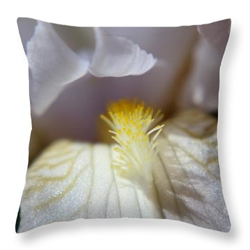 Iris Glistening Throw Pillow