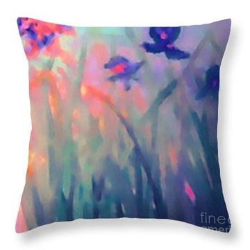 Iris Throw Pillow by Holly Martinson