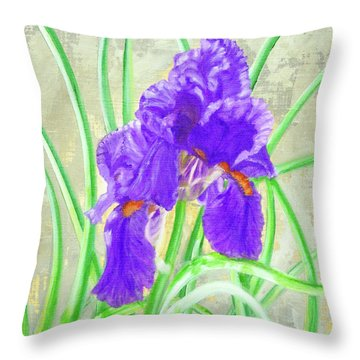 Iris Hope Throw Pillow