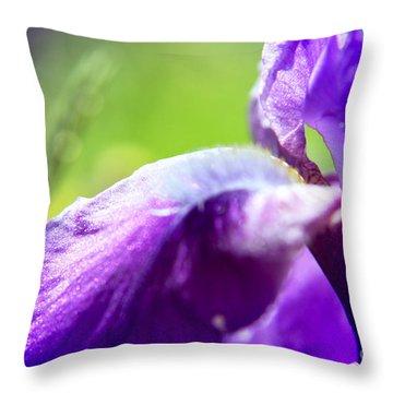 Iris In Moscows Garden Throw Pillow