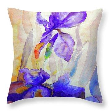 Iris Throw Pillow by Jasna Dragun