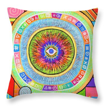 Iris Throw Pillow by Jeremy Aiyadurai