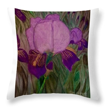 Iris - Magic Man. Throw Pillow