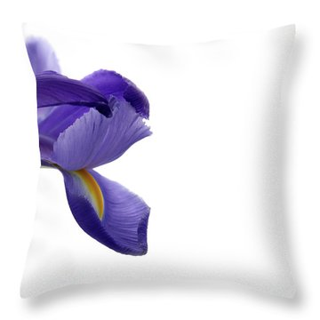 Throw Pillow featuring the photograph Iris by Marie Leslie