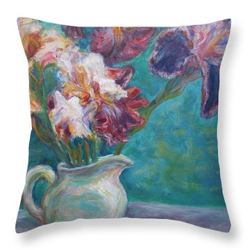 Iris Medley - Original Impressionist Painting Throw Pillow