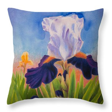 Iris Morning Throw Pillow