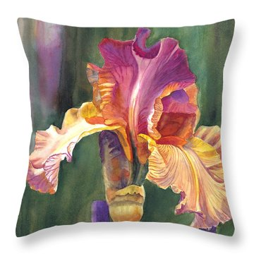 Iris On The Warm Side Throw Pillow